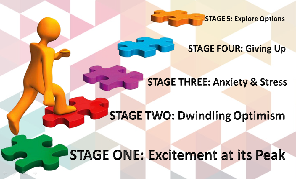Five stages that businesses usually go through - the 5 Step Process!